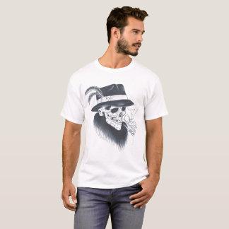 Weißes altes Schädelt-stück der Männer T-Shirt