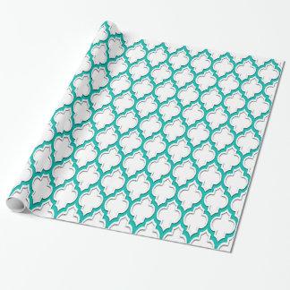 Weißes aquamarines Weiß XL marokkanisches #4DS Geschenkpapier