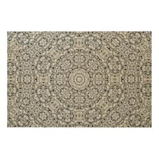 Weißes Blatt-Muster-hölzerne Wand-Kunst Holzleinwände