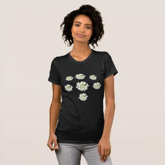 Weißes Blumen-Muster Cust. Der T - Shirt der