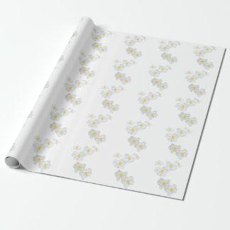 Weißes Blumen-Verpackungs-Papier Geschenkpapier