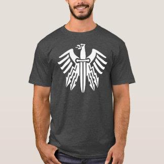 Weißes Eagle und Dolch-Tätowierungs-Entwurf T-Shirt