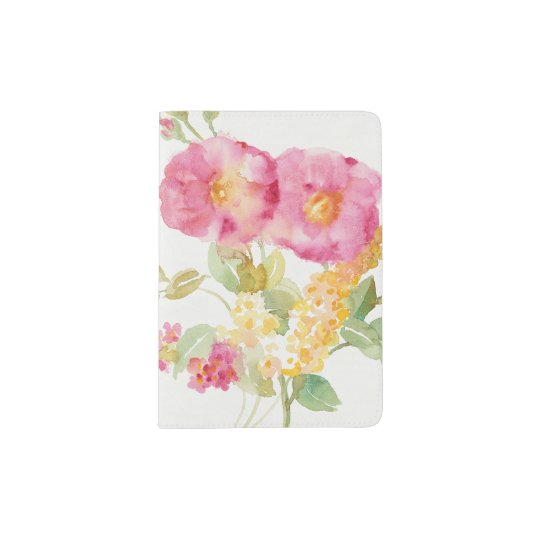 Weißes Gänseblümchen auf Blau Passhülle