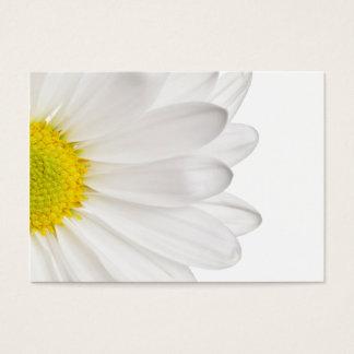 Weißes Gänseblümchen-Blumen-Hintergrund Jumbo-Visitenkarten