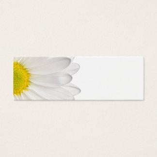 Weißes Gänseblümchen-Blumen-Hintergrund Mini-Visitenkarten