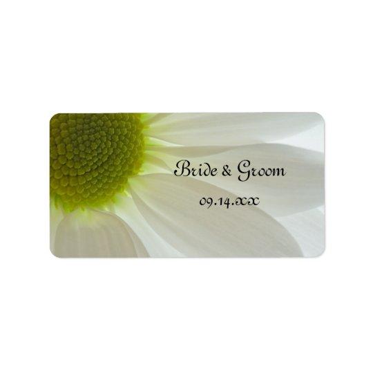 Weißes Gänseblümchen-Blumenblatt-Gastgeschenk Adressaufkleber