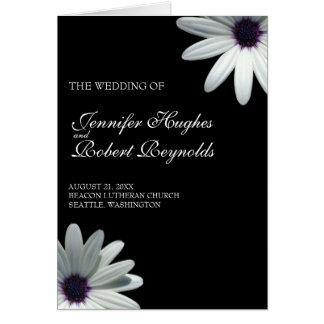 Weißes Gänseblümchen-Hochzeits-Programm-Karte Grußkarte