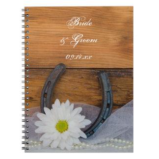 Weißes Gänseblümchen-und Spiral Notizblock