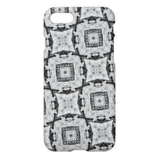 weißes graues schwarzes Muster iPhone 8/7 Hülle