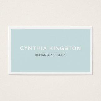 Weißes Grenzeinfach elegantes weiches blaues Visitenkarte