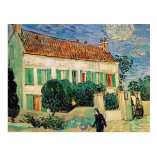 Weißes Haus nachts - Vincent van Gogh Postkarte