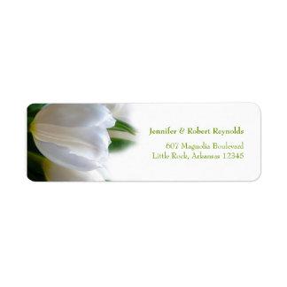Weißes Hochzeits-Adressen-Etikett Rücksendeetiketten