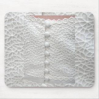 Weißes Hochzeits-Kleid Mousepad - kundengerecht