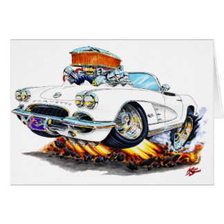 Weißes Kabriolett 1961 Korvette Karte