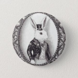 Weißes Kaninchen - Knopf Runder Button 5,7 Cm