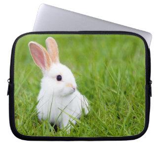 Weißes Kaninchen Laptop Schutzhülle