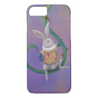 Weißes Kaninchen mit Rosen-Dornen iPhone 6 Fall iPhone 8/7 Hülle