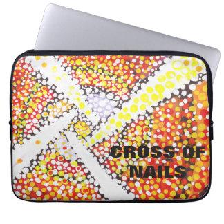 Weißes Kreuz - abstrakte Laptophülse Laptop Sleeve