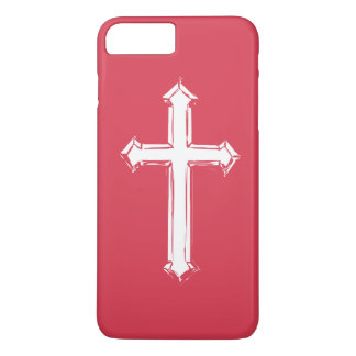 Weißes Kreuz iPhone 8 Plus/7 Plus Hülle