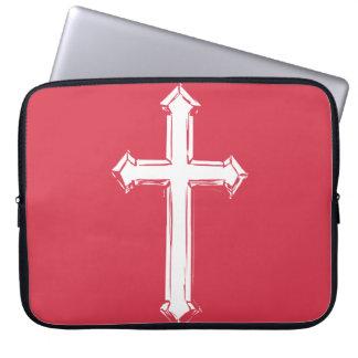 Weißes Kreuz Laptopschutzhülle