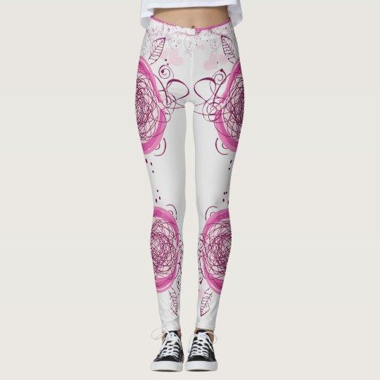 weißes legging Rosa Leggings