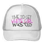 Weißes Mädchen vergeudete Hüte Truckermütze