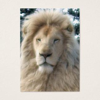 Weißes molliges der LöwehauptVisitenkarte Visitenkarte
