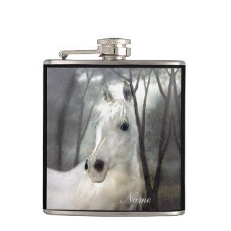 Weißes Pferd Flachmann