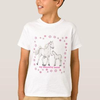 """Weißes Pferd - """"mein schönes Pferd """" T-Shirt"""