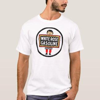 Weißes Rosen-Benzin T-Shirt