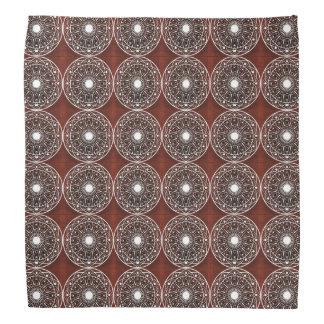 Weißes Rotwein-Mandala-Muster Halstuch