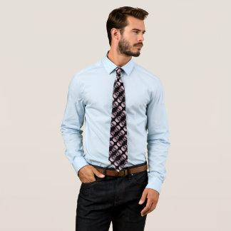 Weißes Schädel-Rückseite Armani Satin-Muster Bedruckte Krawatte