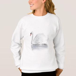 Weißes Schwan-Weiß-Sweatshirt Sweatshirt