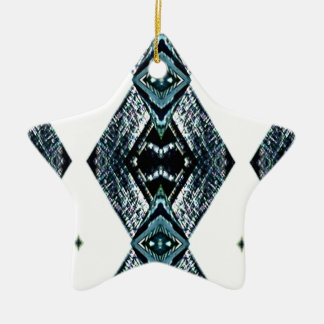 Weißes schwarzes blaues modernes sauberes Muster Keramik Ornament