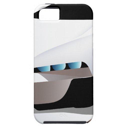Weißes Sportwagenpng iPhone 5 Case