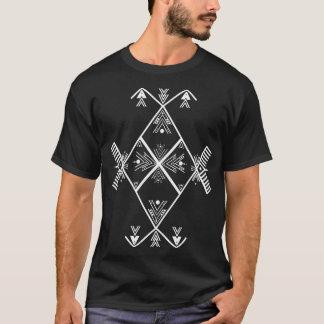 Weißes T-Shirt Entwurf Amazigh Kunst