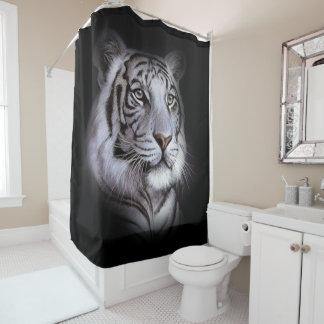 Weißes Tiger-Gesicht Duschvorhang