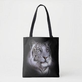 Weißes Tiger-Gesicht Tasche