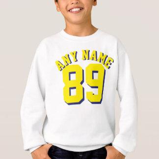 Weißes u. goldenes Gelb scherzt | Sport Jersey Sweatshirt