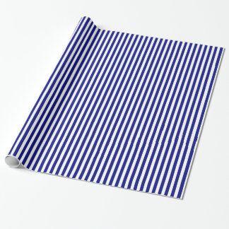 Weißes und blaues gestreiftes Packpapier Geschenkpapierrolle