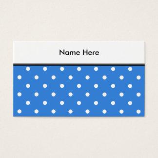 Weißes und blaues Tupfen-Muster Visitenkarte