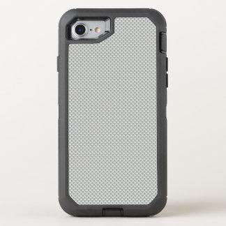 Weißes und graues Kohlenstoff-Faser-Polymer OtterBox Defender iPhone 7 Hülle