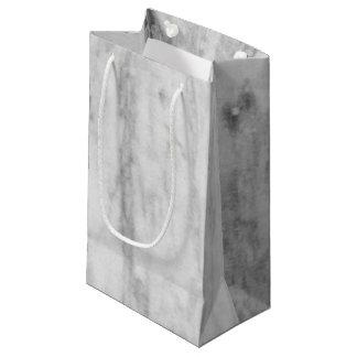 Weißes und graues Marmorbeschaffenheits-Muster Kleine Geschenktüte