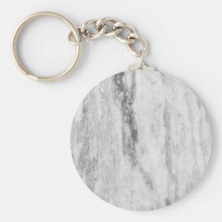 Weißes und graues Marmorbeschaffenheits-Muster Schlüsselanhänger