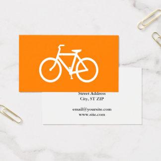 Weißes und orange Fahrrad Visitenkarte