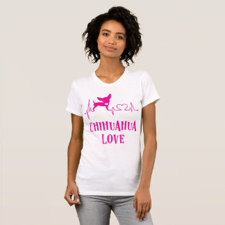 Weißes und rosa Chihuahua-Liebe-T-Shirt T-Shirt