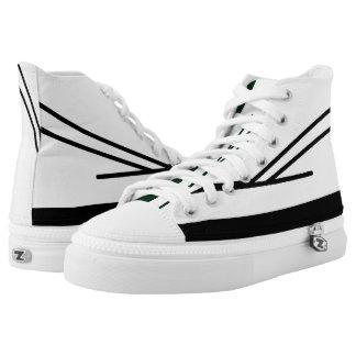 Weißes und schwarzes Aveso 2 Hallo-Spitze Hoch-geschnittene Sneaker