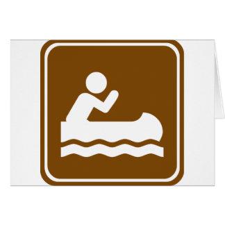 Weißes Wasser-Canoeing Landstraßen-Zeichen Karte