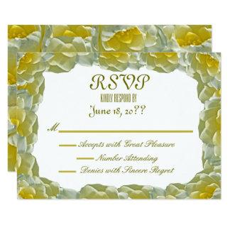 Weißes Wasser-Lilien, die UAWG Wedding sind Karte