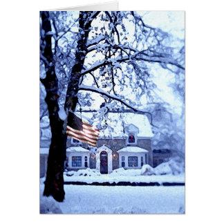 Weißes Weihnachtskarte Karte
